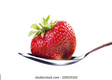 art beautiful strawberry dessert on white background