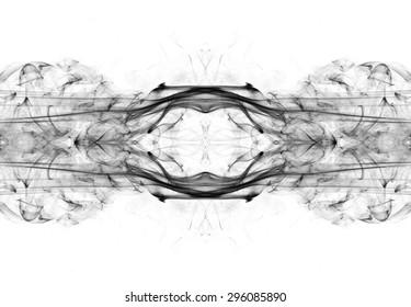 art of black smoke on white background