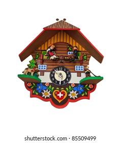 art clock on isolate background as swedish stlye
