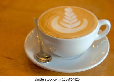 Art coffee on table