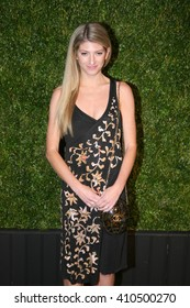 Art dealer Sarah Hoover attends the 11th Annual Chanel Tribeca Film Festival Artists Dinner at Balthazar on April 18, 2016 in New York City.