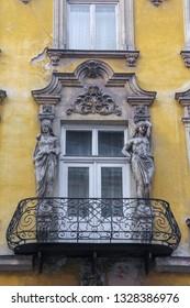 Art deco balcon, Old Town, Krakow, Poland