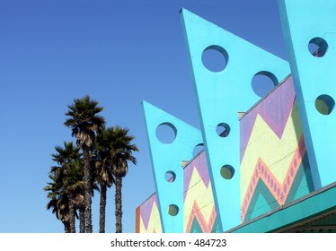 Art Deco Buildings and Palm Trees