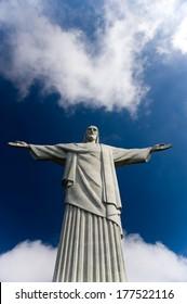 The art deco Christ the Redeemer statue in Rio de Janeiro