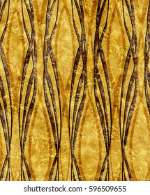 Art Deco golden pattern large