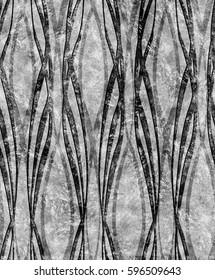 Art Deco silver monochrome pattern large