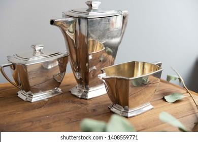 art deco silver ware for stylish home