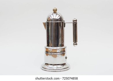 Art deco style coffee machine stainless steel