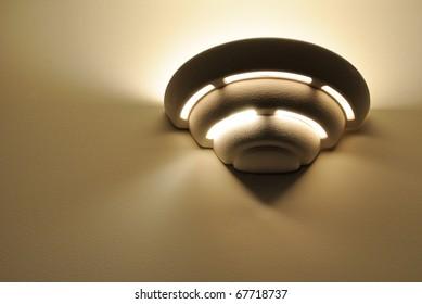 An art deco wall light fixture.