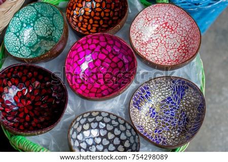 Art Design Coconut Shell Decorate Thai Stock Photo Edit Now