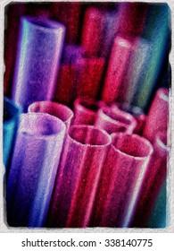 Art effect on drinking straws