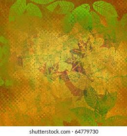 art floral autumn vintage background