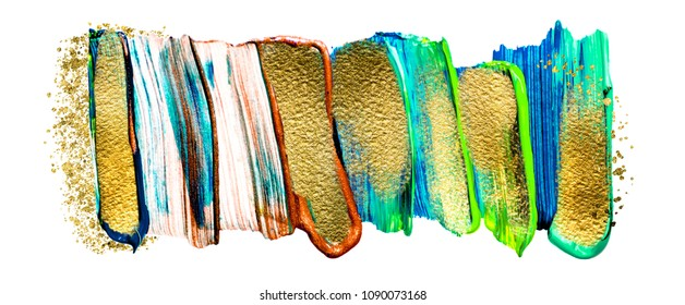 Art and Gold. Trendy color with golden paint and glitters.  A painting for the wall. Very beautiful abstract rich painting.