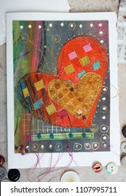 Art Greeting Card Collage Heart