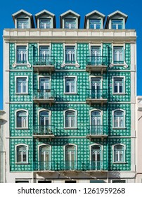 art of historical buildings at Lisbon, Portugal