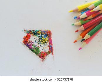 Art Home Colors Ideas Color Pencils Stock Photo Edit Now 526737178