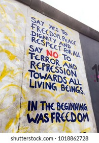 Art and inspiration on the remains of the wall. East Side Gallery|Berlin|Germany