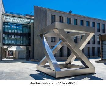 Art Installation in centre of Vaduz, the capital city of Liechtenstein, Europe, 18. July 2016