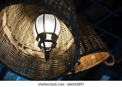 Art lamp decor evening in straw
