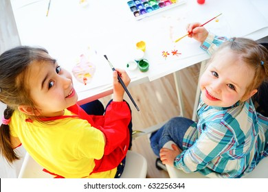 Art lesson in kindergarten