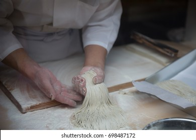 The art of making Soba in Japan.