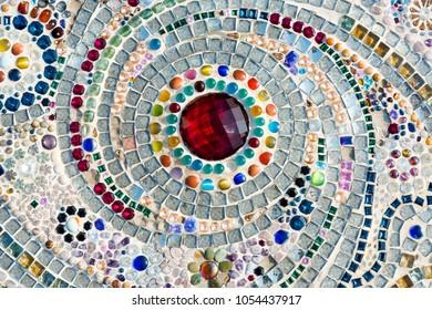 Art mosaic glass on the wall.