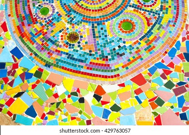 art mosaic glass on the wall seamless background tiles colorful texture stained