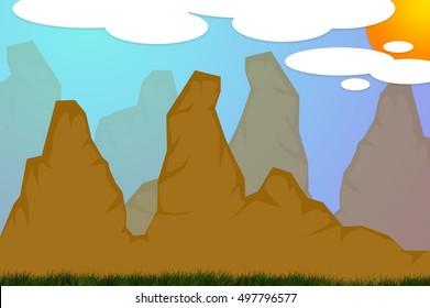 art mountain illustration background