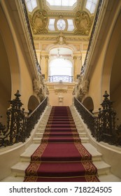 The Art Museum of Craiova is in the luxurious palace of the former merchant Jean Mihail, inaugurated in the summer of 1954 on March 17, 2017 Romania. Interior detail.