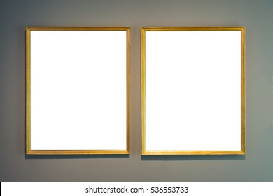 Art Museum Frame Vintage Ornate Painting Picture Blank Clipping Path Isolated Beautiful