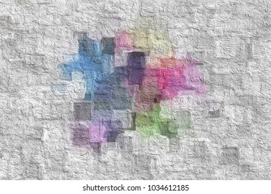 Art nice Color splashes Sample.Surface for your design. Gradient background texture is blurry. Love poly consisting .Beautiful. Used for paper design, book.abstract shape Website work, stripes,tiles