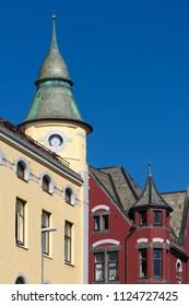 Art Nouveau Architecture in Alesund, Norway