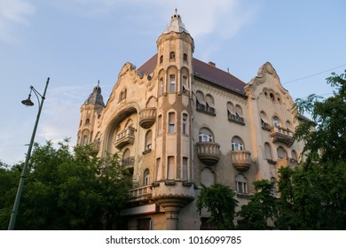 The Art Nouveau architecture of Grof Palace in Szeged, Hungary