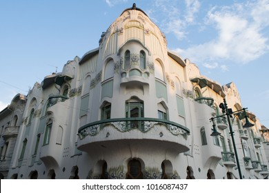 Art Nouveau architecture of the Reok Palace in Szeged, Hungary