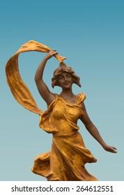 art nouveau bronze figure