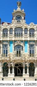 Art nouveau building in Aveiro, Portugal