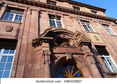 Art Nouveau Building in sandstone, constructed around 1900 as savings bank, today council offices of the City of Worms (Germany).