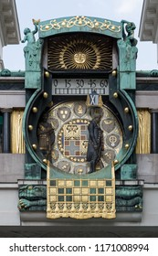 Art Nouveau clock in Vienna