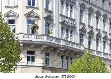 Art Nouveau Facade of an old building in the city of Vienna