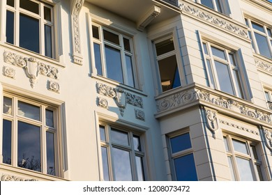 art nouveau facade with ornament