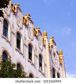 Art Nouveau or Jugendstil architecture in Budapest, Hungary .