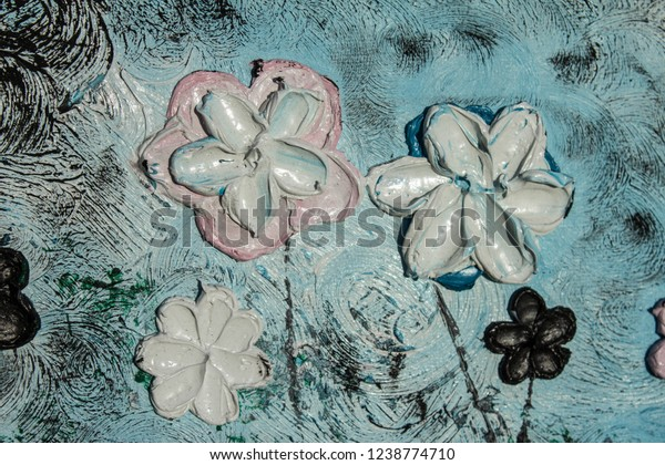 Art Oil Painting Picture 3d Background Stock Photo (Edit Now