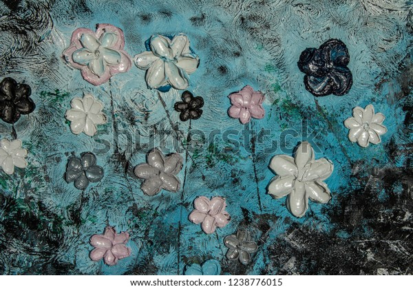 Art Oil Painting Picture 3d Background Stock Photo (Edit Now) 1238776015