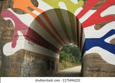 Art on a Tunnel at the Westside Beltline in Atlanta, Georgia