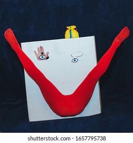 Kunstfoto-Box mit Lächeln