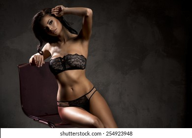 Art photo of young brunette  lady