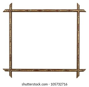 art picture frame bamboo golden