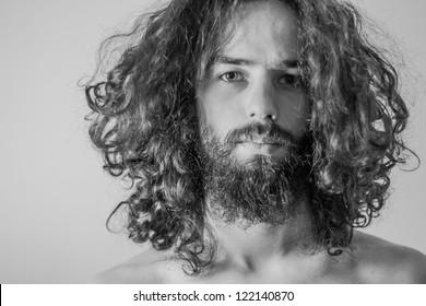 art portrait of handsome man