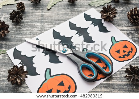 Art project craft children create greeting stock photo edit now art project a craft for children create a greeting card on halloween pumpkin m4hsunfo