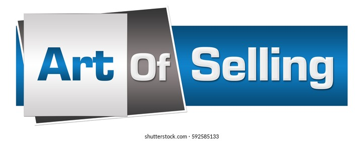 Art Of Selling Blue Grey Horizontal